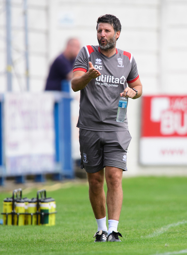 Lincoln City manager Danny Cowley<br /> <br /> Photographer Chris Vaughan/CameraSport<br /> <br /> Football Pre-Season Friendly (Community Festival of Lincolnshire) - Lincoln City v Lincoln United - Saturday 6th July 2019 - The Martin & Co Arena - Gainsborough<br /> <br /> World Copyright © 2018 CameraSport. All rights reserved. 43 Linden Ave. Countesthorpe. Leicester. England. LE8 5PG - Tel: +44 (0) 116 277 4147 - admin@camerasport.com - www.camerasport.com