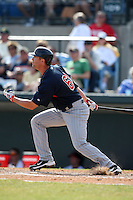 March 8, 2010:  Rene Tosoni of the Minnesota Twins during a Spring Training game at Ed Smith Stadium in Sarasota, FL.  Photo By Mike Janes/Four Seam Images