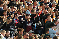 Aston Villa fans at the end of the game.  Norwich City vs Aston Villa, Premier League Football at Carrow Road on 5th October 2019