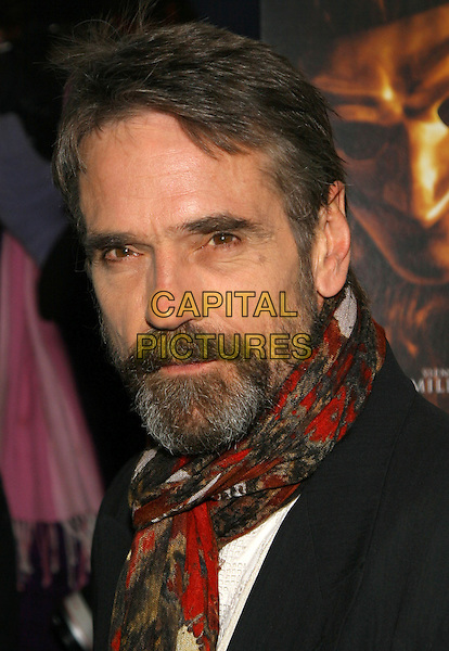 JEREMY IRONS.NY premiere of Casanova., New York, NY..December 12th, 2005.Photo: Jackson Lee/Admedia/Capital Pictures.Ref: JL/ADM.headshot portrait beard facial hair.www.capitalpictures.com.sales@capitalpictures.com.© Capital Pictures.