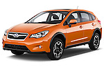 2014 Subaru XV-Crosstrek Premium 5 Door SUV Angular Front stock photos of front three quarter view