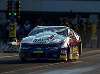 Sep 16, 2016; Concord, NC, USA; NHRA pro stock driver Vincent Nobile during qualifying for the Carolina Nationals at zMax Dragway. Mandatory Credit: Mark J. Rebilas-USA TODAY Sports