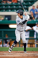 Tampa Tarpons Hoy Jun Park (1) at bat during a game against the Lakeland Flying Tigers on April 5, 2018 at Publix Field at Joker Marchant Stadium in Lakeland, Florida.  Tampa defeated Lakeland 4-2.  (Mike Janes/Four Seam Images)