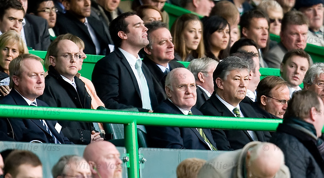 John Reid and Peter Lawwell in the directors box