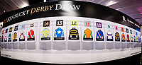 LOUISVILLE, KENTUCKY - MAY 03: A general view of the completed post position board after the Kentucky Derby Draw at Churchill Downs on May 3, 2017 in Louisville, Kentucky. (Photo by Douglas DeFelice/Eclipse Sportswire/Getty Images)