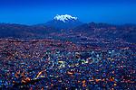 Mt Illiamani_La Paz_El Alto_Dusk_Bolivia