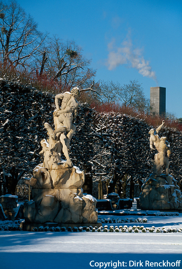 Garten von Schloss Mirabell in  Salzburg,Österreich
