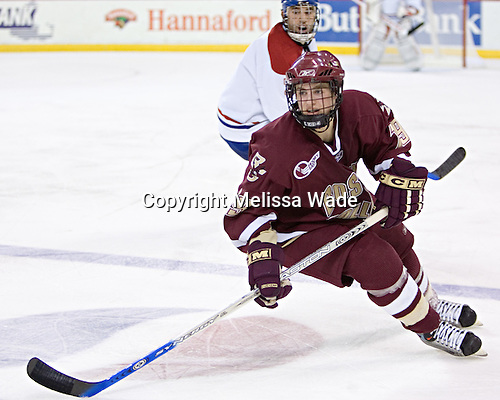 Brock Bradford (JR Bria) - The Boston College Eagles defeated the University of Massachusetts-Lowell River Hawks 4-3 in overtime on Saturday, January 28, 2006, at the Paul E. Tsongas Arena in Lowell, Massachusetts.