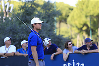 Lucas Bjerregaad (DEN) tees off the 11th tee during Sunday's Final Round of the 2018 Turkish Airlines Open hosted by Regnum Carya Golf &amp; Spa Resort, Antalya, Turkey. 4th November 2018.<br /> Picture: Eoin Clarke | Golffile<br /> <br /> <br /> All photos usage must carry mandatory copyright credit (&copy; Golffile | Eoin Clarke)