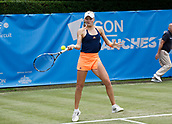 June 13th 2017, The Northern Lawn tennis Club, Manchester, England; ITF Womens tennis tournament; Harriet Dart (GBR) hits a forehand during her first round singles match against Magdalena Frech (POL); Frech won in three sets
