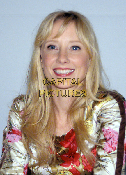 ANNE HECHE.headshot, portrait, floral print.www.capitalpictures.com.sales@capitalpictures.com.© Capital Pictures.