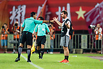 Fifa Referee Alireza Faghani of Iran (L) gestures for Shanghai FC Head Coach Andre Villas-Boas (L) during the AFC Champions League 2017 Quarter-Finals match between Guangzhou Evergrande (CHN) vs Shanghai SIPG (CHN) at the Tianhe Stadium on 12 September 2017 in Guangzhou, China. Photo by Marcio Rodrigo Machado / Power Sport Images