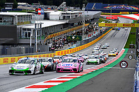 12th July 2020; Spielberg, Austria;  Porsche Mobil 1 Supercup race day;  Start 22 Ayhancan Goeven TR, Martinet by Almeras 3 Leon Koehler D, Lechner Racing Middle East 2 Dylan Pereira L, BWT Lechner Racing held at Spielberg Austria