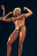 Los Angeles, 1980. Claudia Wilbourn at  California Women's Bodybuilding Championship.