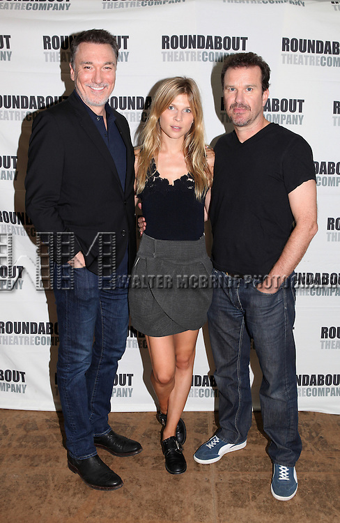 Patrick Page, Clemence Poesy and Douglas Hodge attending the 'Cyrano De Bergerac' Meet & Greet in New York City on August 23, 2012