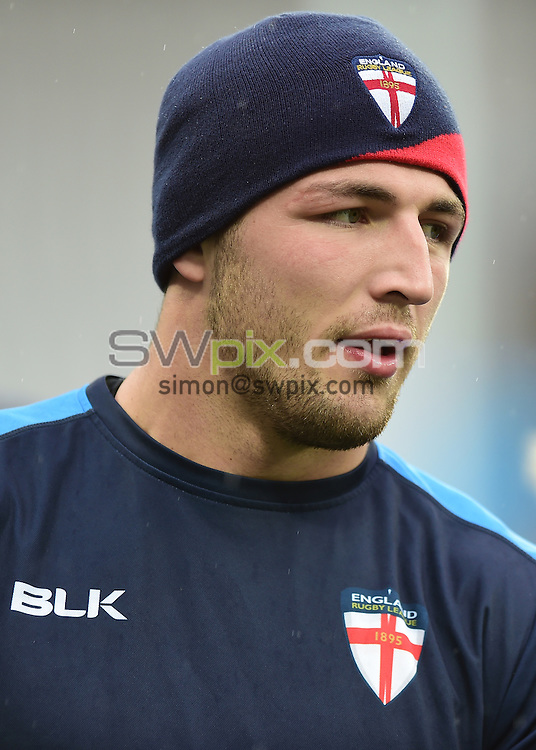 Picture by Alex Broadway/SWpix.com - 12/11/2016 - Rugby League - England Rugby League Captain's Run - London Stadium, London, England - Sam Burgess of England.
