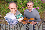 Preparing for the launch of the Binneas Project book 'Amhra?in Ui?bh Ra?thaigh Songs of Iveragh Volume 1'  and Binneas Archive Website are L-R `Matt Joe O'Neill and Peter Mullarkey