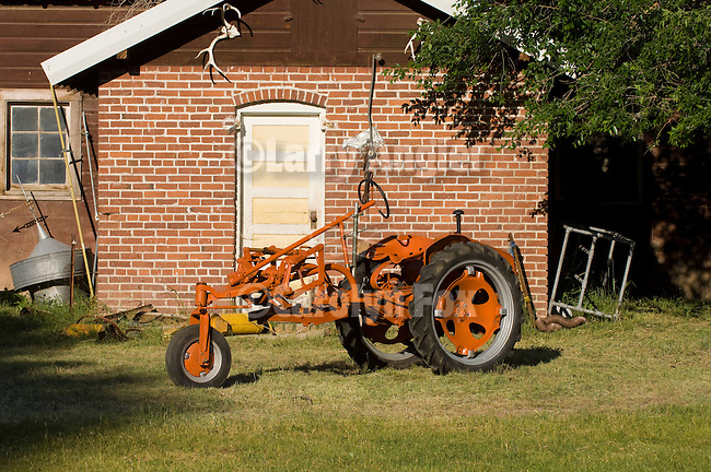 C. 1952 Allis-Chalmers model G tractor (grasshopper) with single front wheel from the collection of Larry Borowick, Nev.