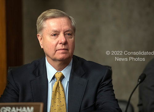 """United States Senator Lindsey Graham (Republican of South Carolina) attends the US Senate Committee on Armed Services hearing """"on the posture of the Department of the Army in review of the Defense Authorization Request for Fiscal Year 2019 and the Future Years Defense Program"""" on Capitol Hill in Washington, DC on Thursday, April 12, 2018.<br /> Credit: Ron Sachs / CNP"""