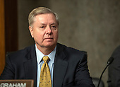 "United States Senator Lindsey Graham (Republican of South Carolina) attends the US Senate Committee on Armed Services hearing ""on the posture of the Department of the Army in review of the Defense Authorization Request for Fiscal Year 2019 and the Future Years Defense Program"" on Capitol Hill in Washington, DC on Thursday, April 12, 2018.<br /> Credit: Ron Sachs / CNP"
