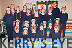 Pupils from Flemby NS who sang Christmas carols for passengers who arrived at Kerry Airport on Wednesday front row l-r: Emily Jane Rola, Grace Rola, Daniel Roche, Shauna Murphy. Aisha Pabon, Darragh O'Sullivan. Middle row: Allan Fazalov, Soren Dowds, Aidan Hill, Cormac McGovern, Gianna Fitzgibbon, Cerys Rider. Back row: Megan Malone, Fiona Cooke, Laura O'Shea, Laura O'Brien, Sophia Dowds, Sophie Foran, Paivi Dowds, Jack O'Flaherty, Phoniex Costello, Paul Roche Principal and Daire McGovern