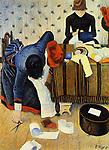 The Milliner, 1885; Paul Signac (1863–1935) ; Zürich, Sammlung Bührle (Art Museum).
