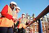Armitt infrastructure planning review launch <br /> <br /> Sir John Armitt <br /> Rt Hon Ed Balls MP <br /> Rachel Reeves MP<br /> <br /> visiting Cross Rail site at Bond Street station <br /> <br /> 5th September 2013 <br /> <br /> Photograph by Elliott Franks