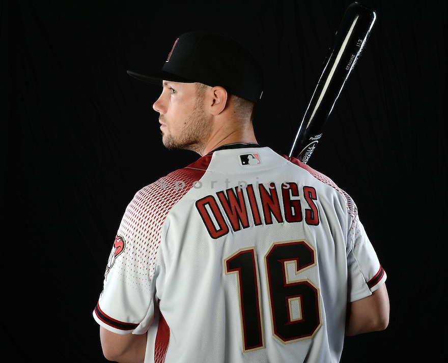 Arizona Diamondbacks Chris Owings (16) during photo day on February 28, 2016 in Scottsdale, AZ.