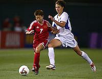 Bai Jie, left, Tatiana Egorova, right, China vs. Russia, 2003 WWC.