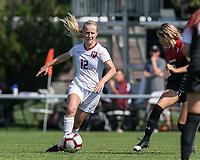 Allston, Massachusetts - September 16, 2018: NCAA Division I. Harvard University (white) defeated Northeastern University (red/black), 2-0, at Ohiri Field.