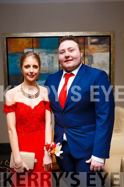 Ciara Knightly (Tralee) and Glen Kavanagh (Dublin) attending the Mercy Mounthawk Debs at the Ballyroe Heights Hotel on Thursday night last.