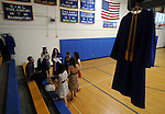 Early arrivals chat prior to suiting up, prior to the Rockville High School graduation, Wednesday, June 22, 2011, at the high school in Vernon. (Jim Michaud/Journal Inquirer)