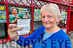 Anne Pullen with her winning betting slip.