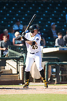 Surprise Saguaros first baseman Will Craig (45), of the Pittsburgh Pirates organization, at bat during an Arizona Fall League game against the Glendale Desert Dogs at Surprise Stadium on November 13, 2018 in Surprise, Arizona. Surprise defeated Glendale 9-2. (Zachary Lucy/Four Seam Images)