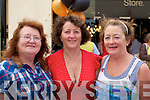 SISTERS: Sheila O'Halloran,Margaret Maher and Joan Carey (sisters) who were at the opening of the Petroleum New Menware Shop, Abbey Court, Tralee on Saturday....................................... ....