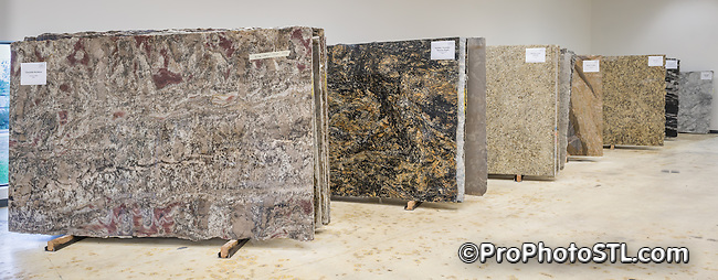 Arch City Granite & Marble showroom in O'Fallon, MO.