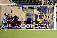 Orlando, FL - Saturday September 10, 2016: Ashlyn Harris during a regular season National Women's Soccer League (NWSL) match between the Orlando Pride and Sky Blue FC at Camping World Stadium.