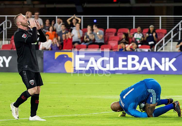 Washington, D.C. - Saturday, July 28, 2018: D.C United defeated the Colorado Rapids 2-1 in a MLS match at Audi Field.