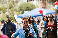 "Congresswoman Barbara Lee speaks at the 2015 Maxwell Park ""A Day in the Park"" celebration in Oakland's Maxwell Park neighborhood."