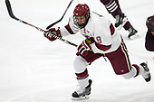 Jake Horton (Harvard - 19) - The visiting Colgate University Raiders shut out the Harvard University Crimson for a 2-0 win on Saturday, January 27, 2018, at Bright-Landry Hockey Center in Boston, Massachusetts.