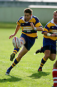 John Penberthy kicking into space. Counties Manukau Premier Club Rugby, Patumahoe vs Karaka played at Patumahoe on Saturday 22nd April 2006. Karaka won 19 - 6.