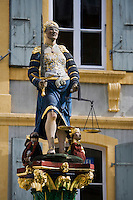 Europe/Suisse/Jura Suisse/ Neuchâtel: Statue de la Justice