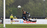 20190409  - Tubize , BELGIUM : Swiss goalkeeper Elvira Herzog pictured during the soccer match between the women under 19 teams of Switzerland and Finland , on the third matchday in group 2 of the UEFA Women Under19 Elite rounds in Tubize , Belgium. Tuesday 9 th April 2019 . PHOTO DIRK VUYLSTEKE / Sportpix.be