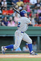 Right fielder Dex Kjerstad (22) of the Lexington Legends bats in a game against the Greenville Drive on Sunday, August 31, 2014, at Fluor Field at the West End in Greenville, South Carolina. Greenville won, 3-2. (Tom Priddy/Four Seam Images)