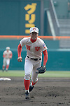 Shoki Murakami (),<br /> MARCH 31, 2016 - Baseball :<br /> 88th National High School Baseball Invitational Tournament final game between Takamatsu Shogyo 1-2 Chiben Gakuen at Koshien Stadium in Hyogo, Japan. (Photo by Katsuro Okazawa/AFLO)