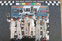 #7 Acura Team Penske Acura DPi, P: Helio Castroneves, Ricky Taylor, podium, #6 Acura Team Penske Acura DPi, P: Dane Cameron, Juan Pablo Montoya, #77 Mazda Team Joest Mazda DPi, P: Oliver Jarvis, Tristan Nunez