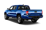 Car pictures of rear three quarter view of 2016 Toyota Tacoma TRD Sport 4 Door Pickup Angular Rear