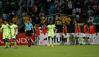 MEDELLIN-COLOMBIA, 9-AGOSTO-2017. Atlético Nacional y La Equidad durante partido por la fecha 6 de la Liga Aguila II 2017 jugado en el estadio Atanasio Girardot de la ciudad de Medellín. / Atlético Nacional  and La Equidad during match for the date 6 of the Aguila League II 2017 played at Atanasio Girardot stadium in Medellin city. Photo:VizzoImage / León Monsalve / Stringer