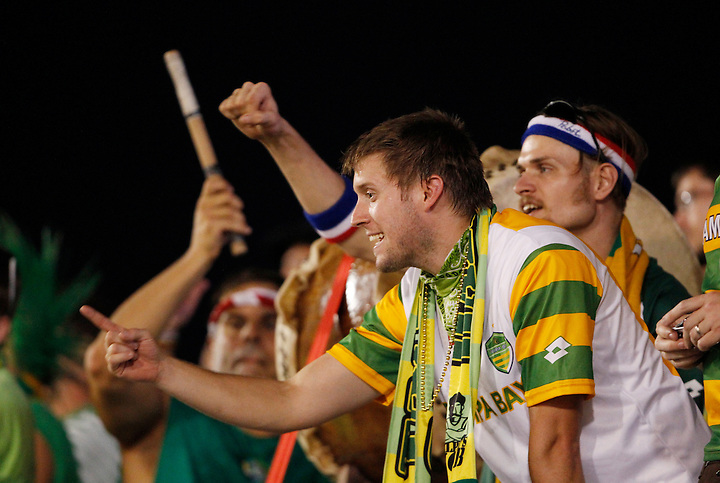 May 27, 2010; TAMPA, FLORIDA: Ralph's Mob fans cheer on the FC Tampa Bay Rowdies during a 3-1 victory over the Minnesota Stars at Steinbrenner Field in Tampa, Florida. Photo by Matt May/FC Tampa Bay Rowdies