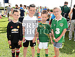 Charlie and Harry Cummins, Ryan Kierans and Morgan Mallon at the Duleek Bellewstown GFC family funday. Photo:Colin Bell/pressphotos.ie